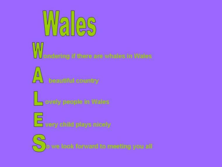 WalesAcrostic