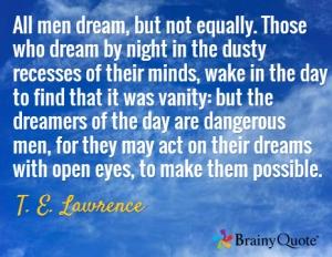 men dream