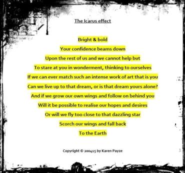 Icarus effect poem