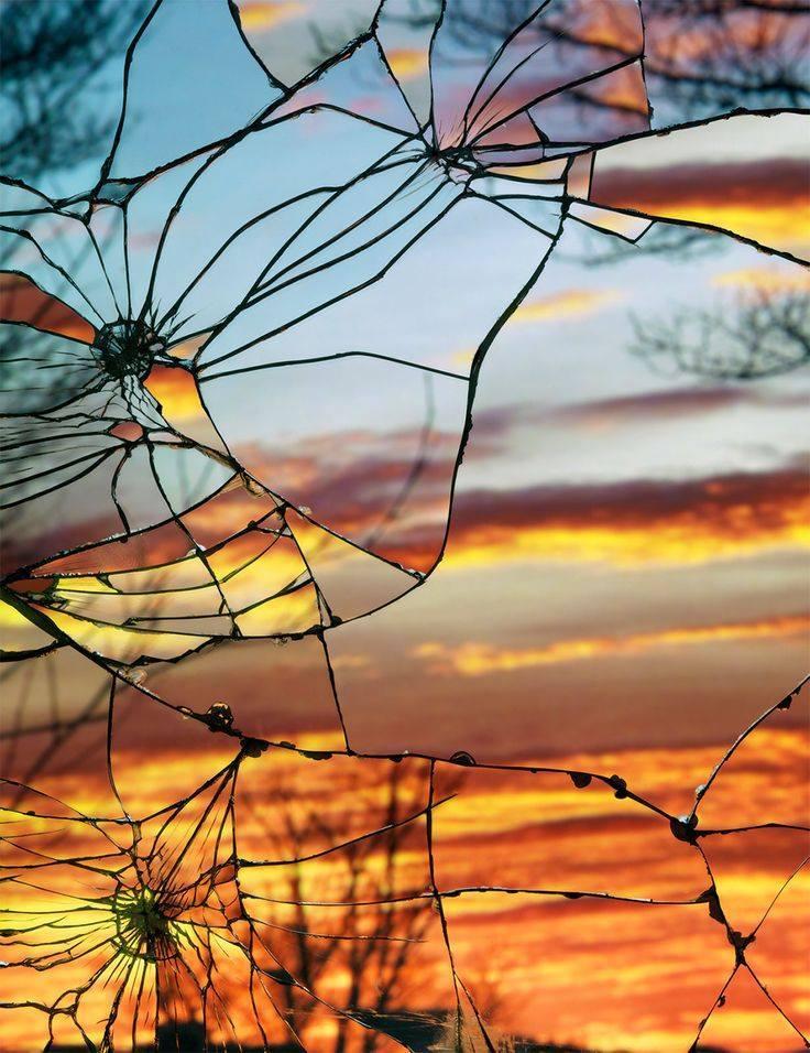 hclubcrackedsunset-art-glass-mirror-cracked