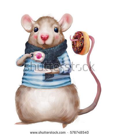cute mouse tea