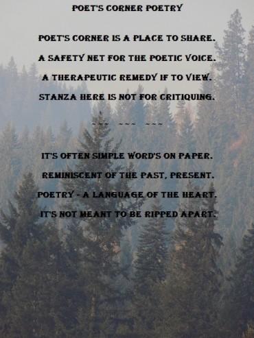 poem for poet's corner