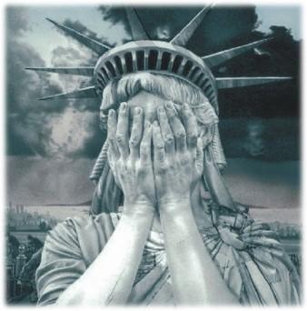 Liberty crying