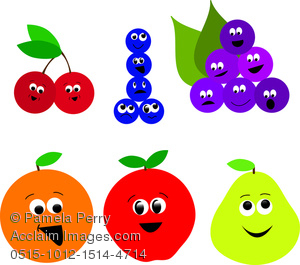 fruit for a shorybook clipart