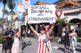 pandemic protestor