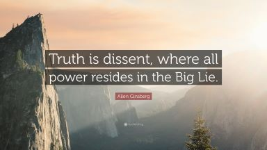 Ginsberg Big Lie quote