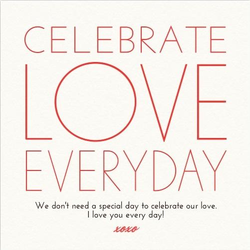 CELEBRATE LOVE EVERYDAY