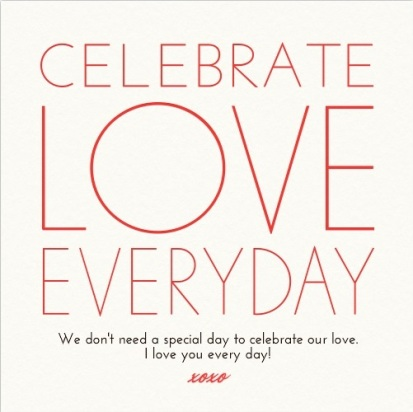 CELEBRATE LOVE EVERYDAY